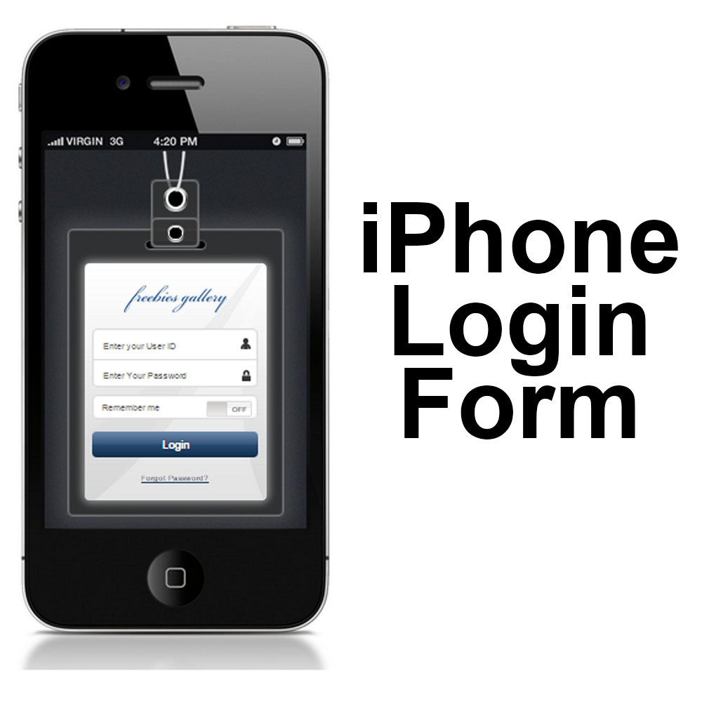 iPhone Login Phone CSS3 HTML5