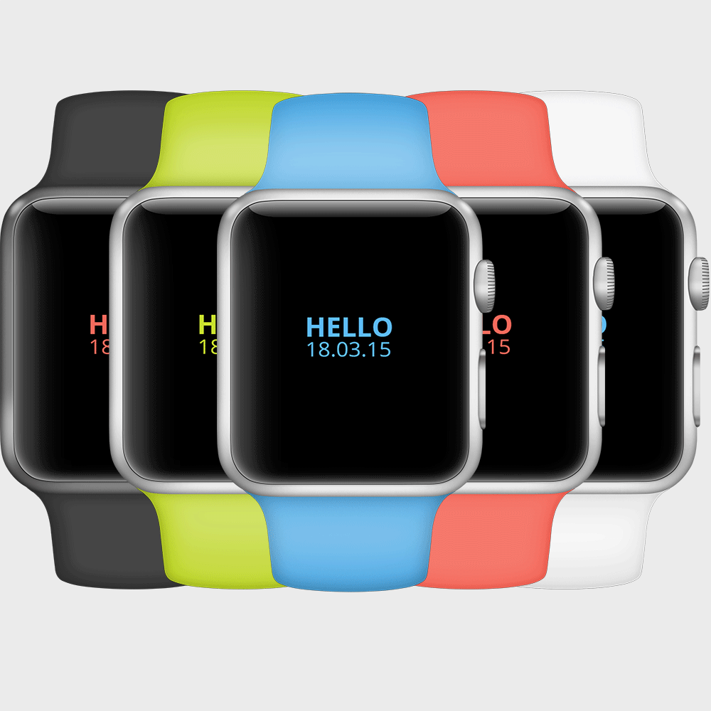 Free iWatch Apple PSD Mockup
