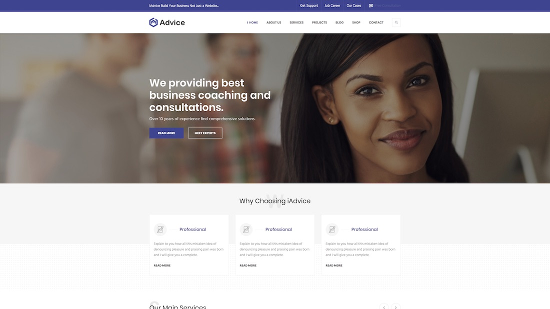 iadvice consulting website template