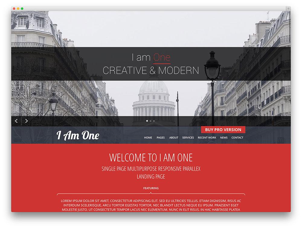 iamone - one page theme