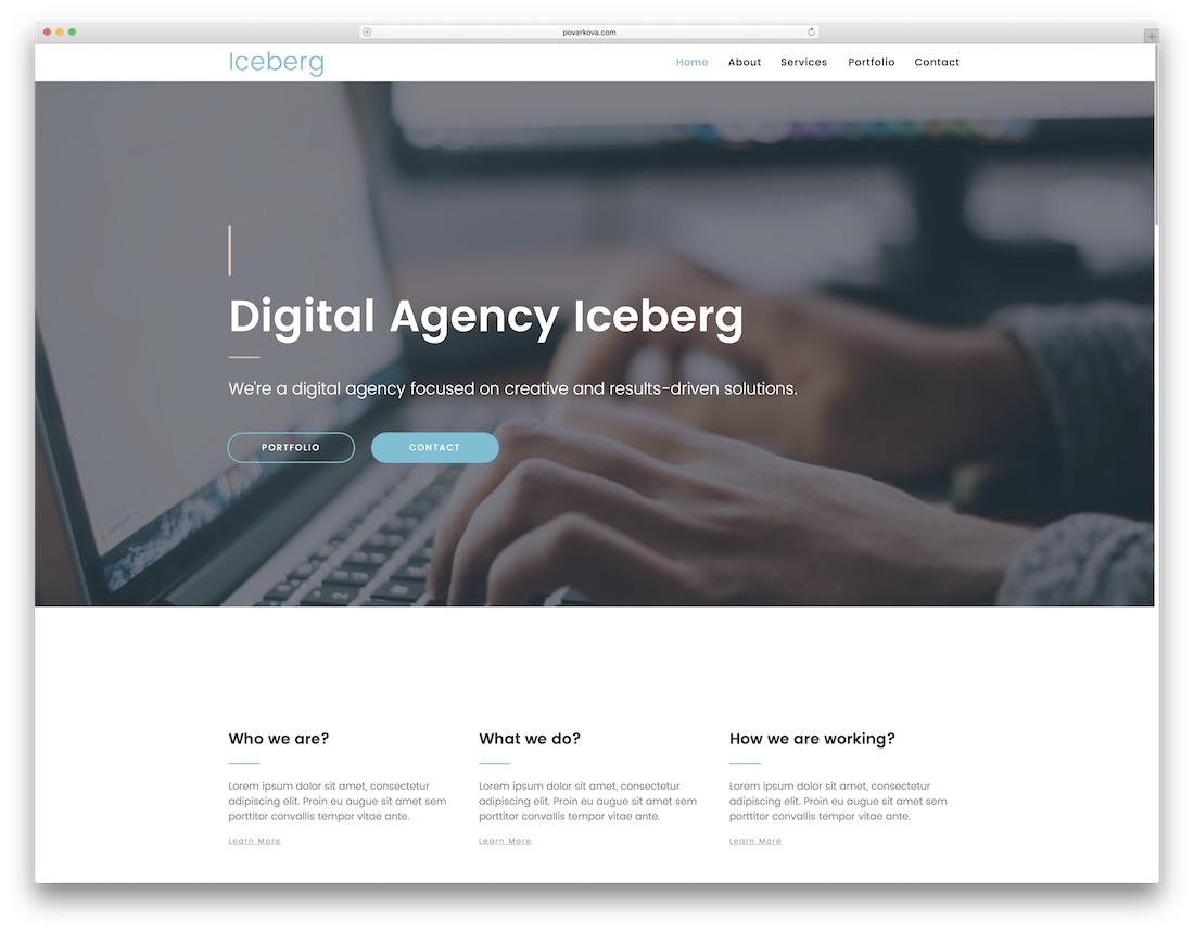 iceberg adobe muse template