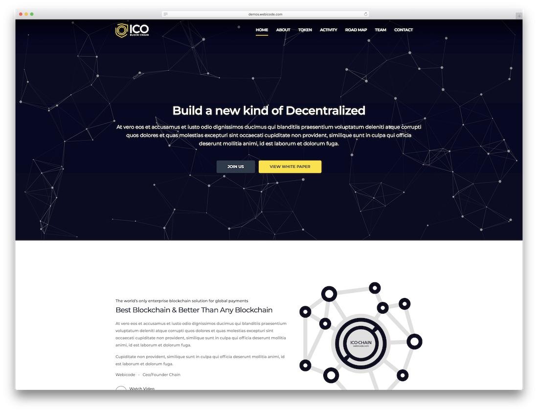 ico crypto blockchain