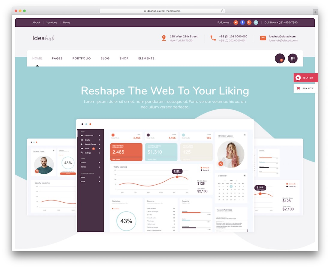 ideahub website template