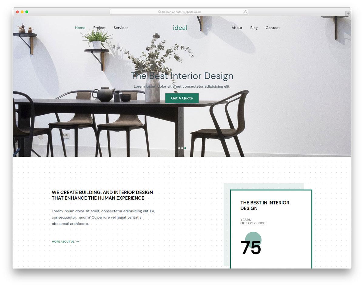 Скачать бесплатно html шаблон Ideal