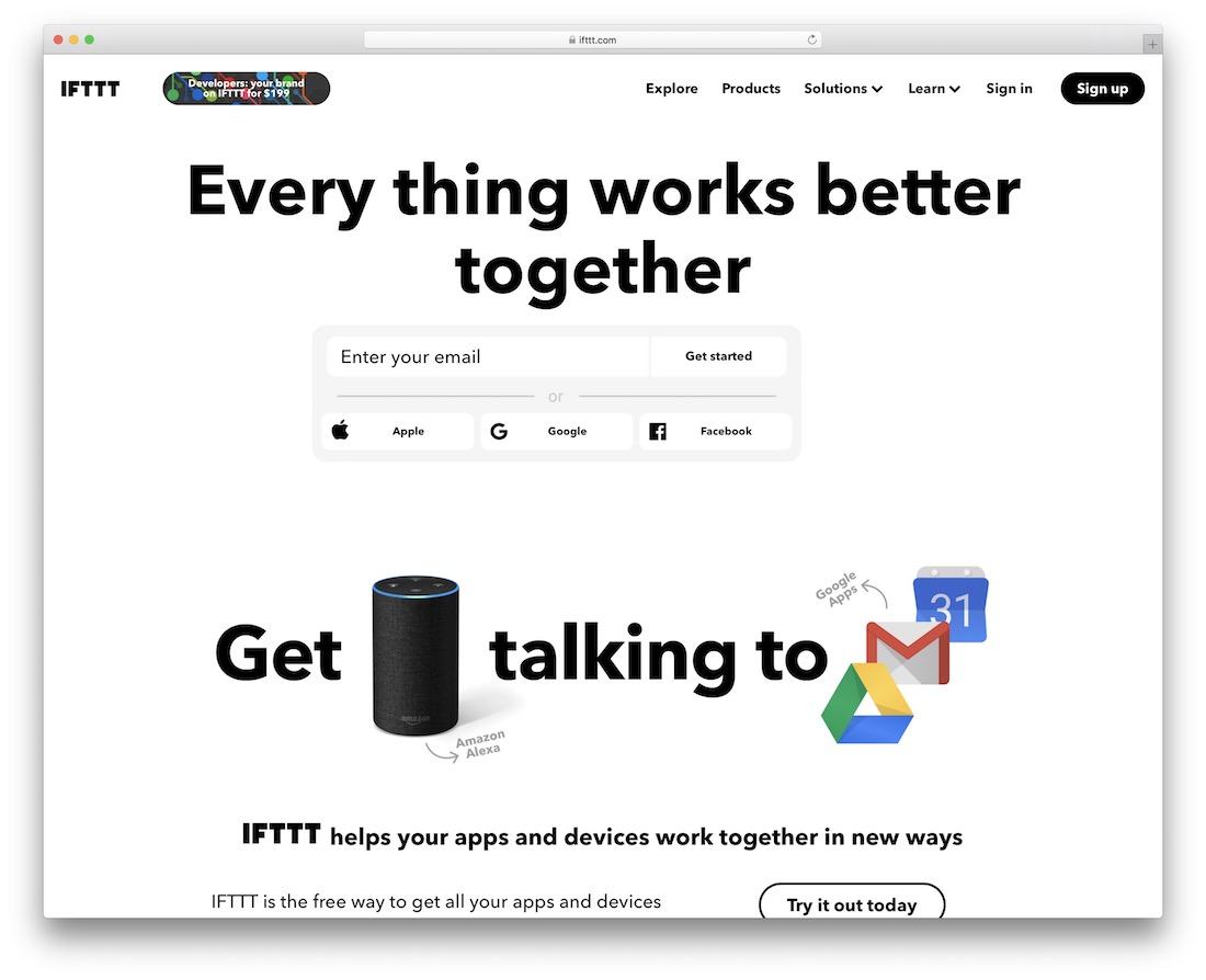 ifttt free productivity tool