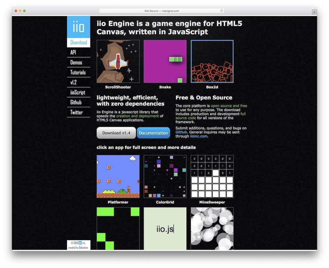 iio engine html5 gaming framework