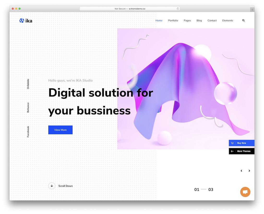 ika creative website template