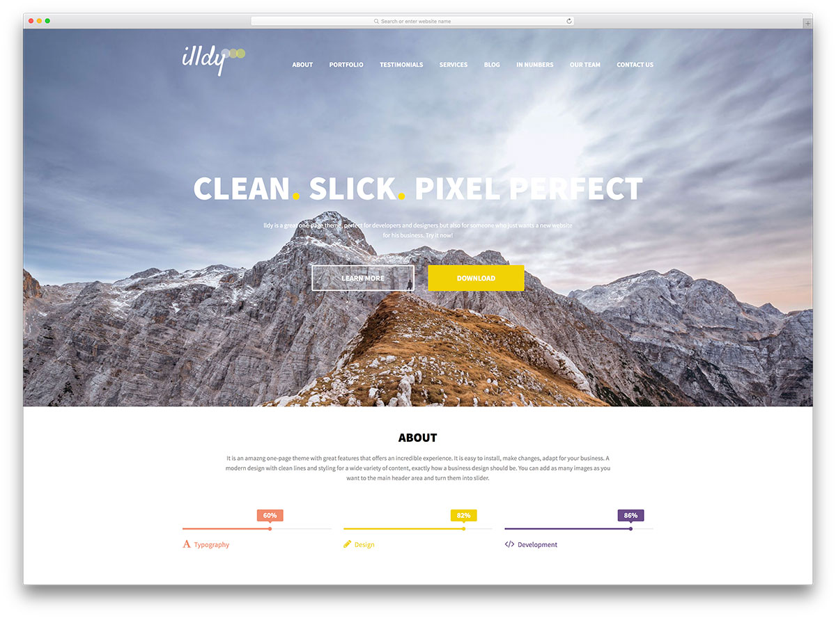 illdy-free-one-page-wordpress-theme