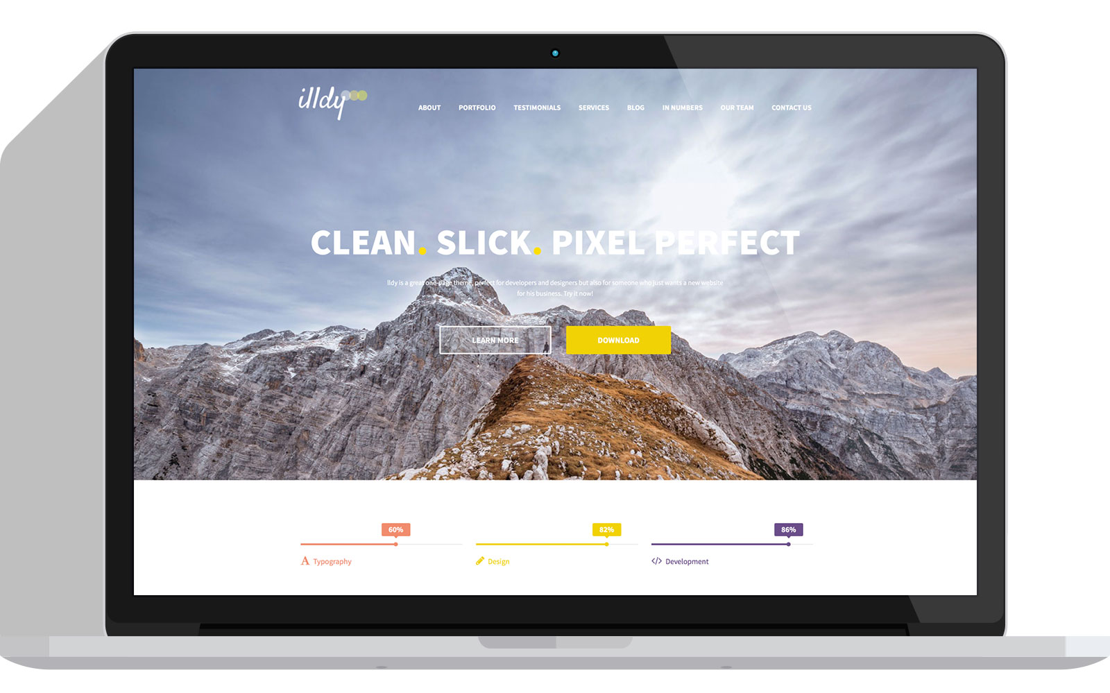 Illdy - Free One Page WordPress Business Theme - Colorlib