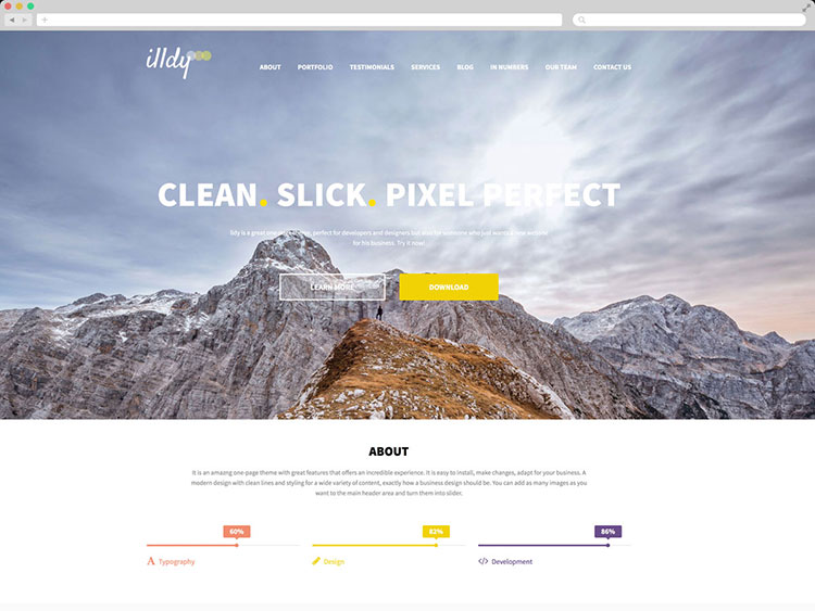 Illdy - Creative One Page Theme