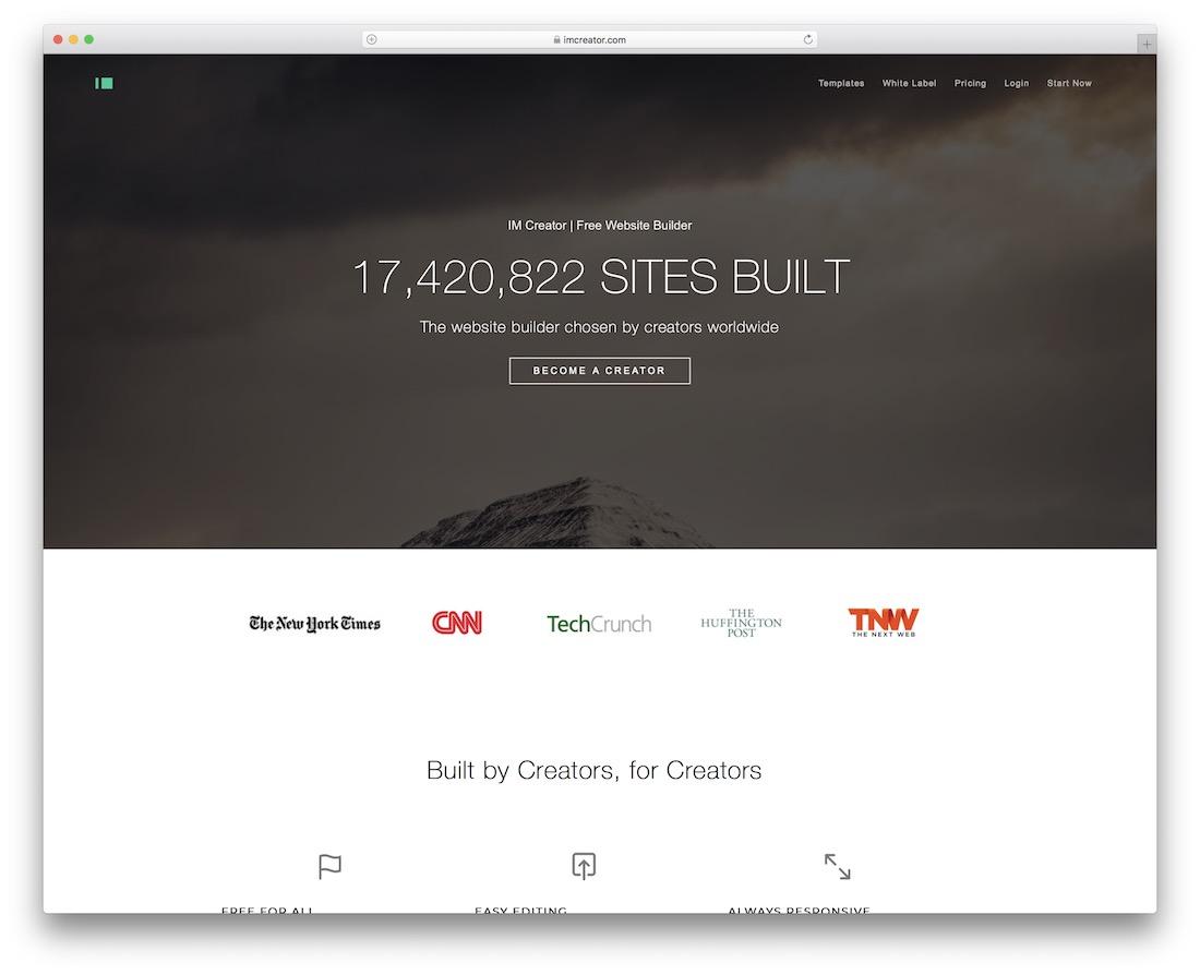 im creator community website builder