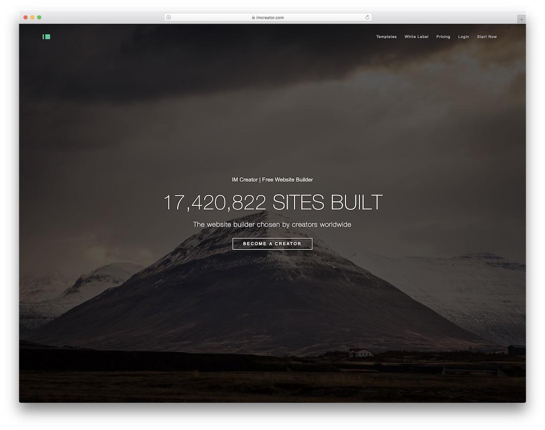 im creator website builder for non-profit organizations