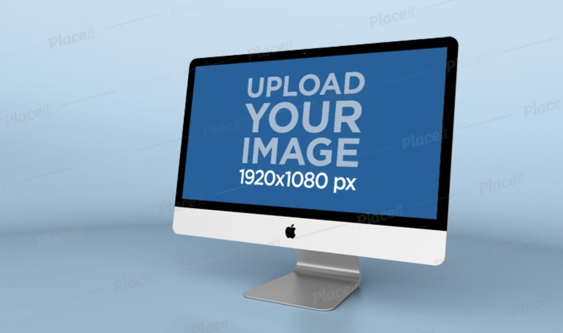 imac mockup with a solid background