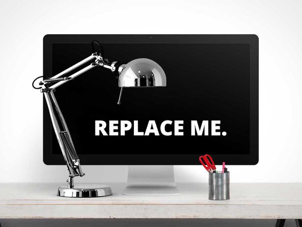 imac plus desk lamp mockup