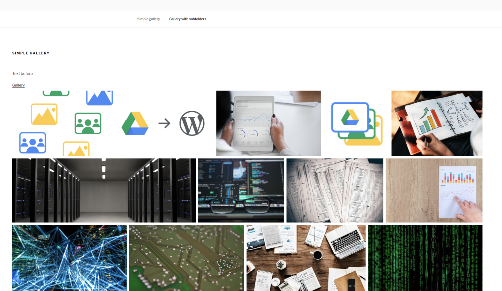 Organized WordPress Google Drive Plugins