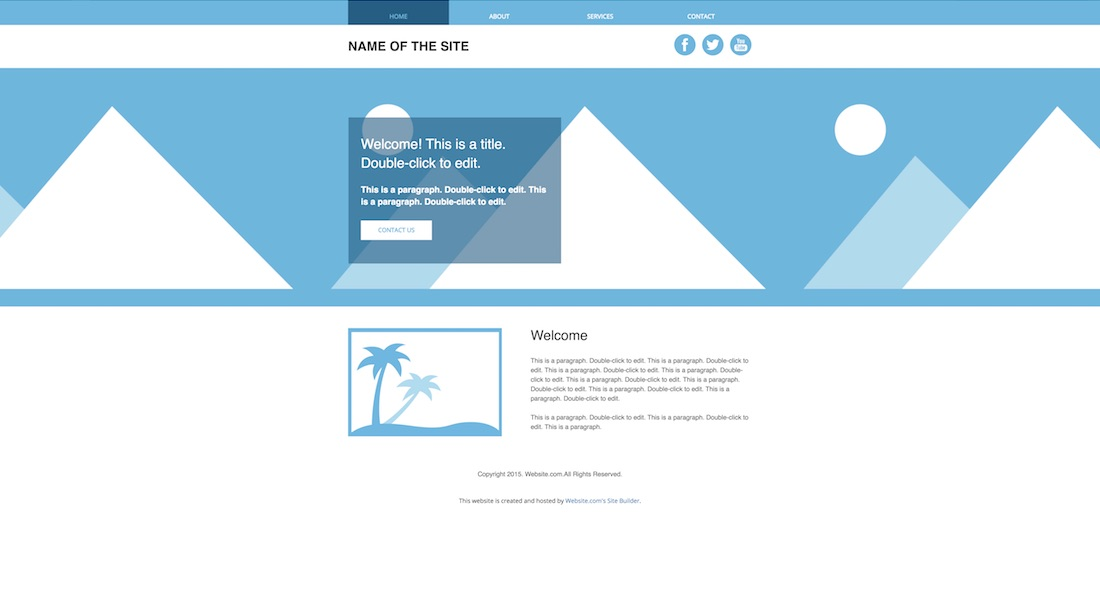 image banner blank website template