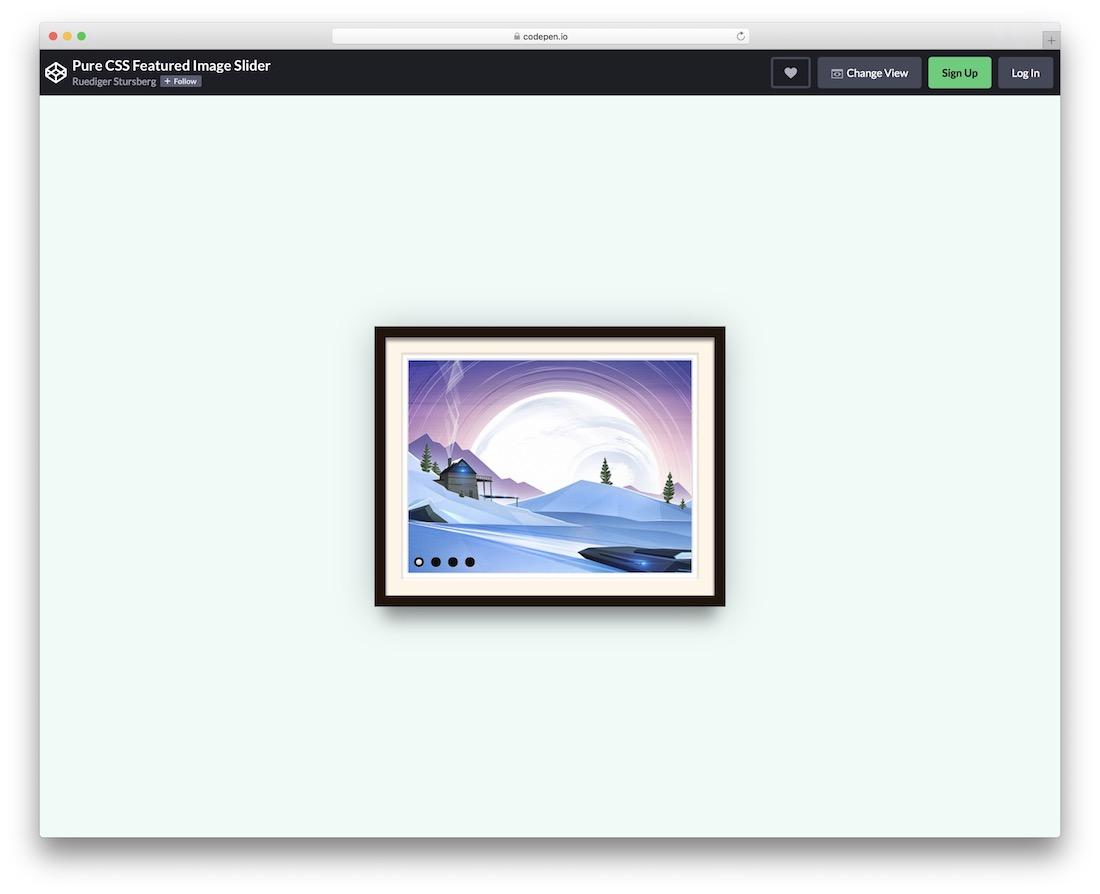 image frame css slider