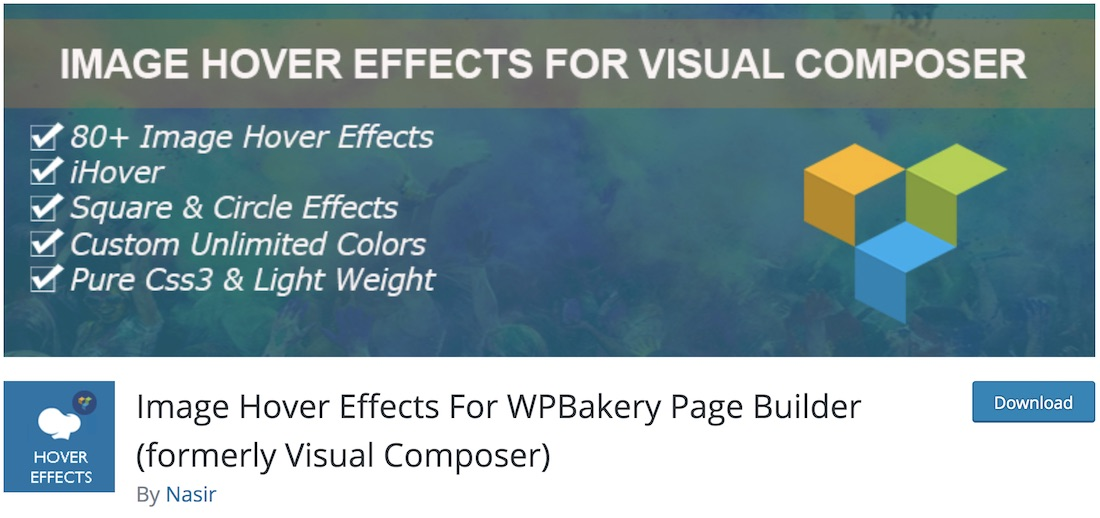 image hover effects wpbakery extension