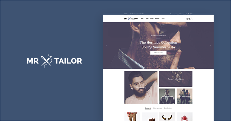 Mr. Tailor WooCommerce theme