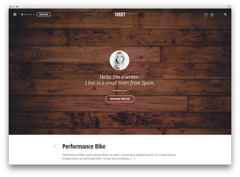 imbt-minimal-marketing-blog-theme