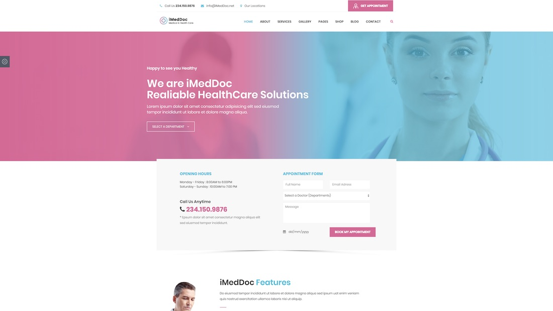 imeddoc website template