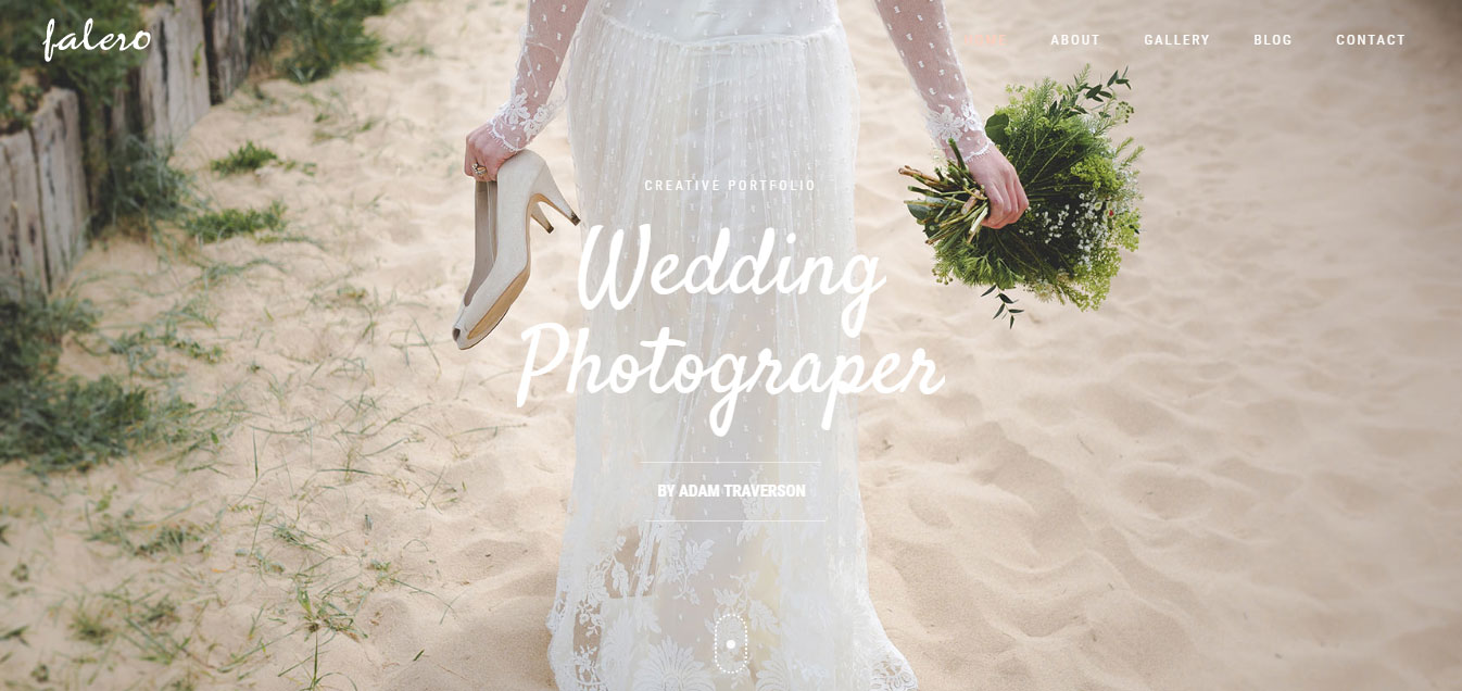 Falero Wedding Photographer Theme WordPress Theme