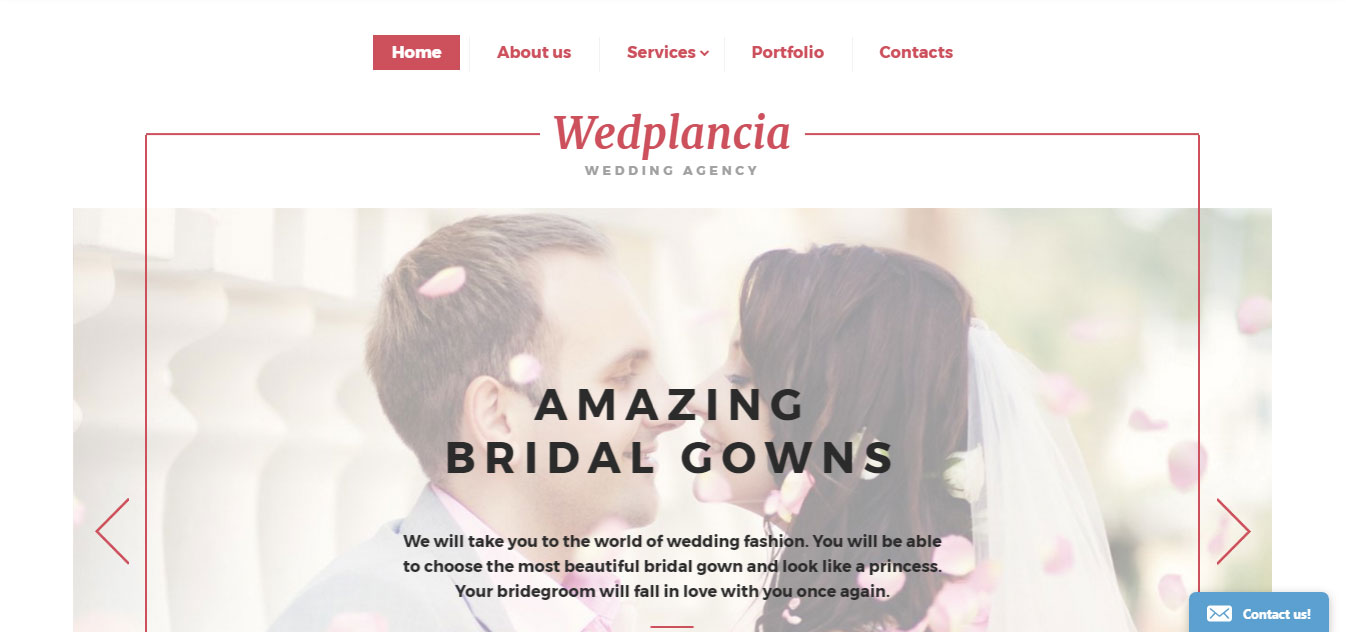 Wedplancia Website Template