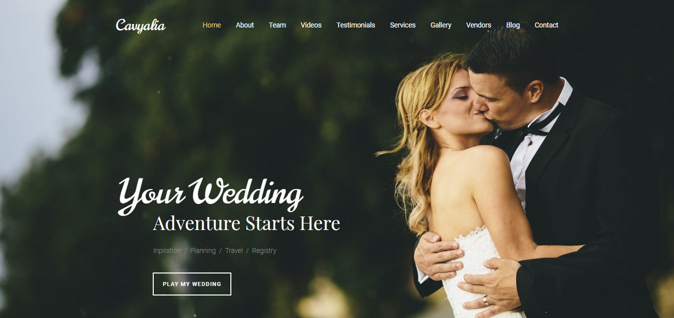 Cavyalia - Wedding Premium Moto CMS 3 Template