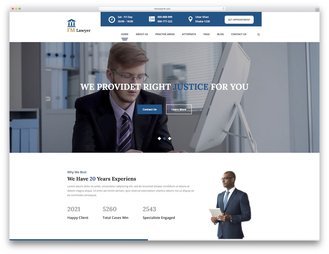Powerful Premium Lawyer Website Templates HTML WordPress - Lawyer website template