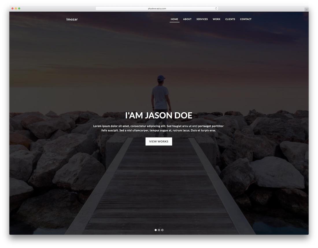 imozar freelancer website template
