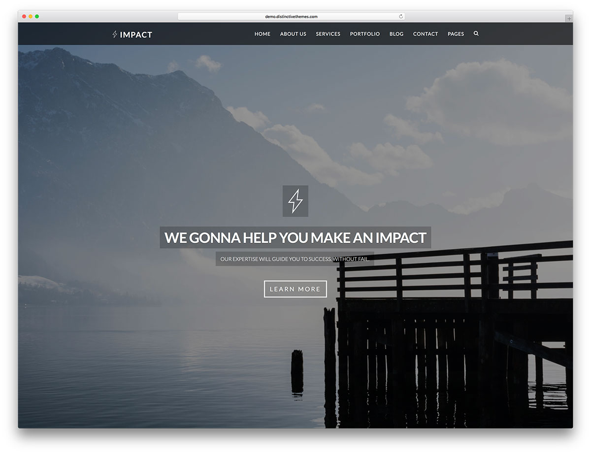 impact is another remarkable free html website template which you can use for literally anything it supports constructing both one and multi page websites
