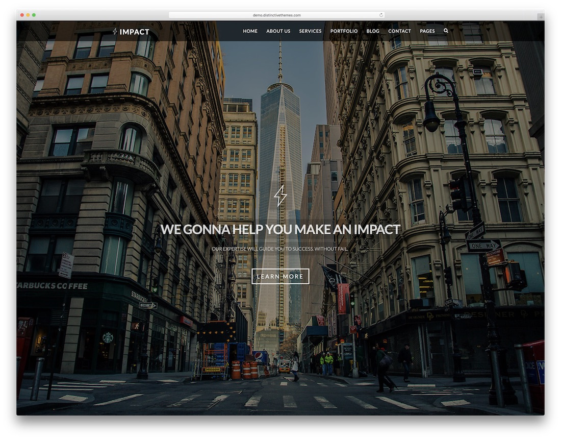 impact free lawyer website template