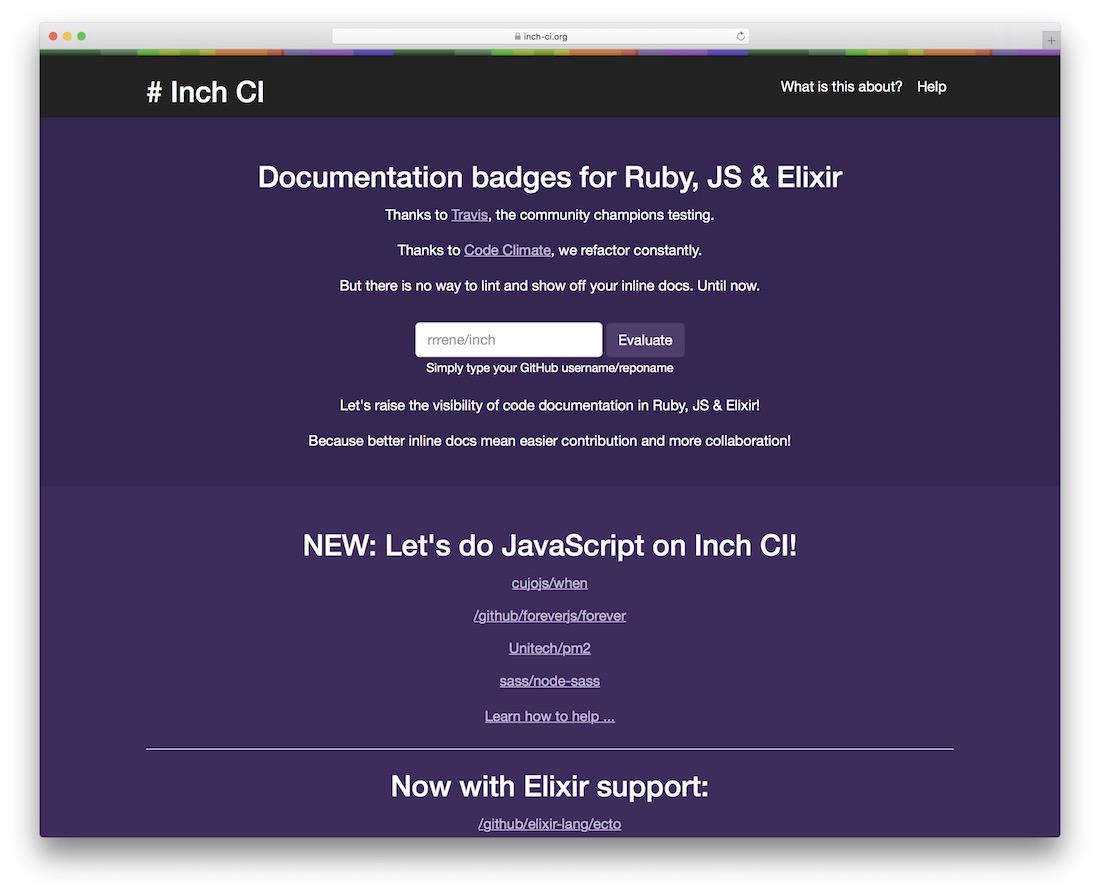 inch ci code testing tool