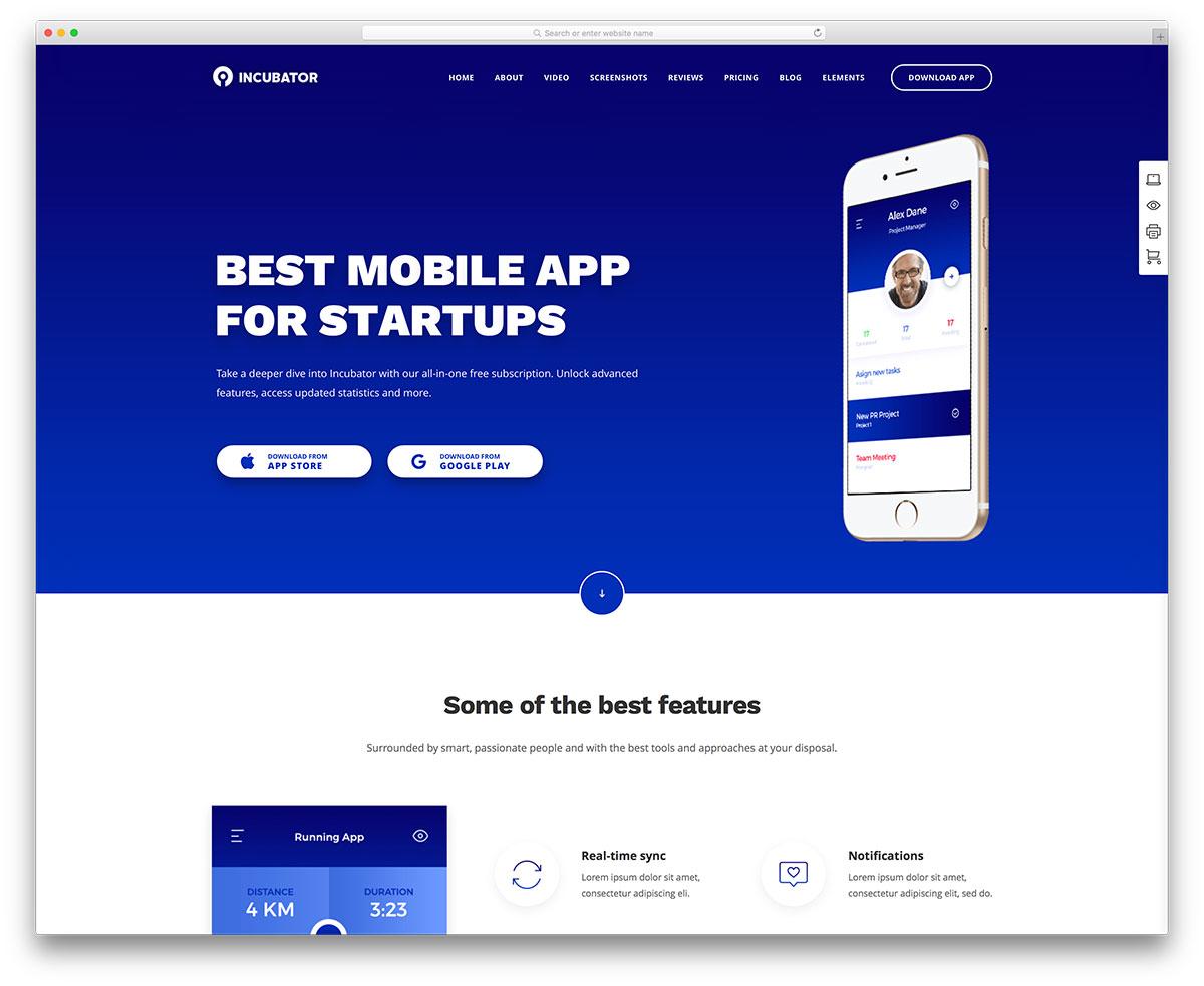 incubator-app-showcase-wp-template