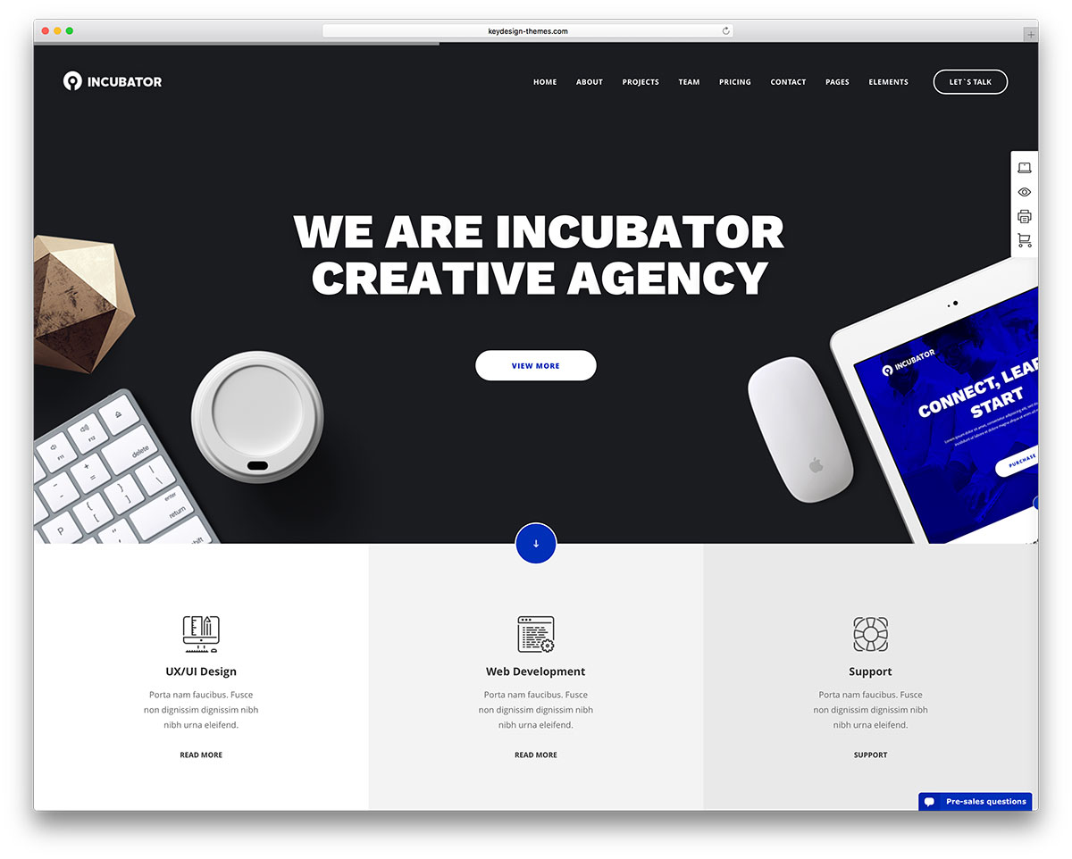 incubator-creative-agency-minimal-website-template