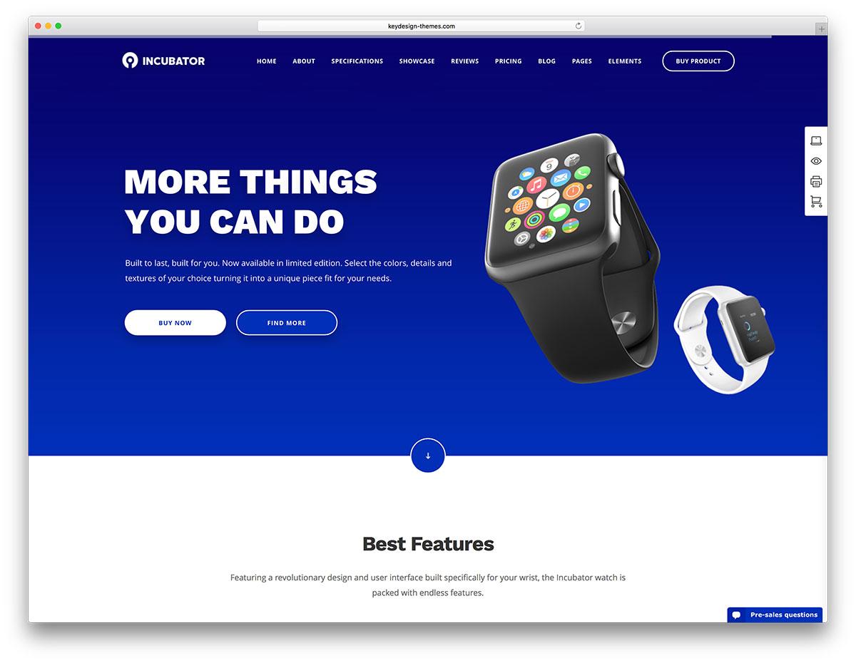 incubator-digital-product-website-template