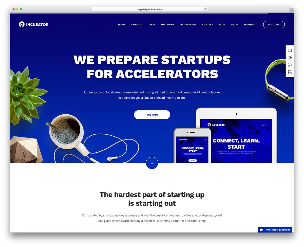 incubator-startup-landing-page-theme