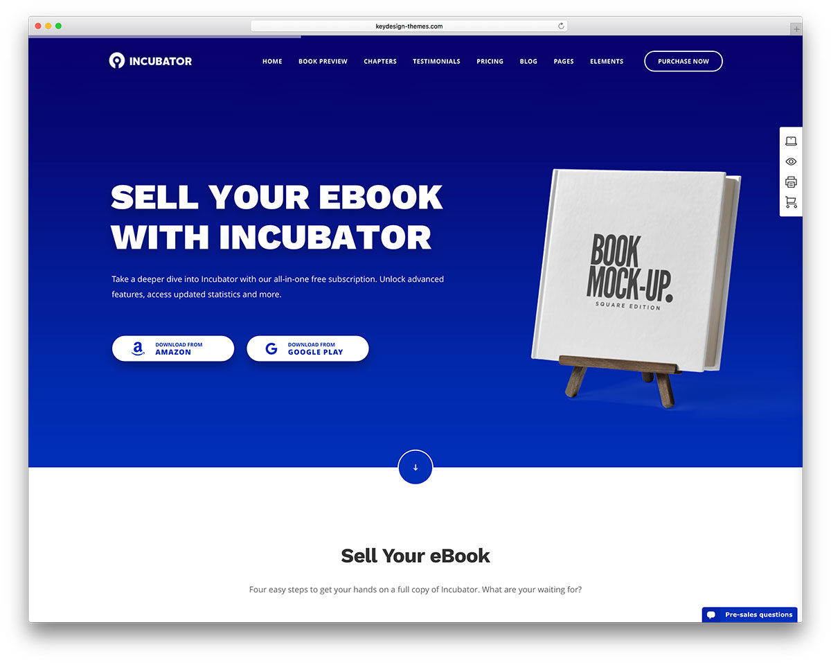 incubator-theme-for-selling-ebooks
