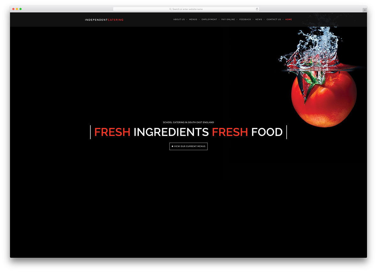 independentcatering-minimal-restaurant-website