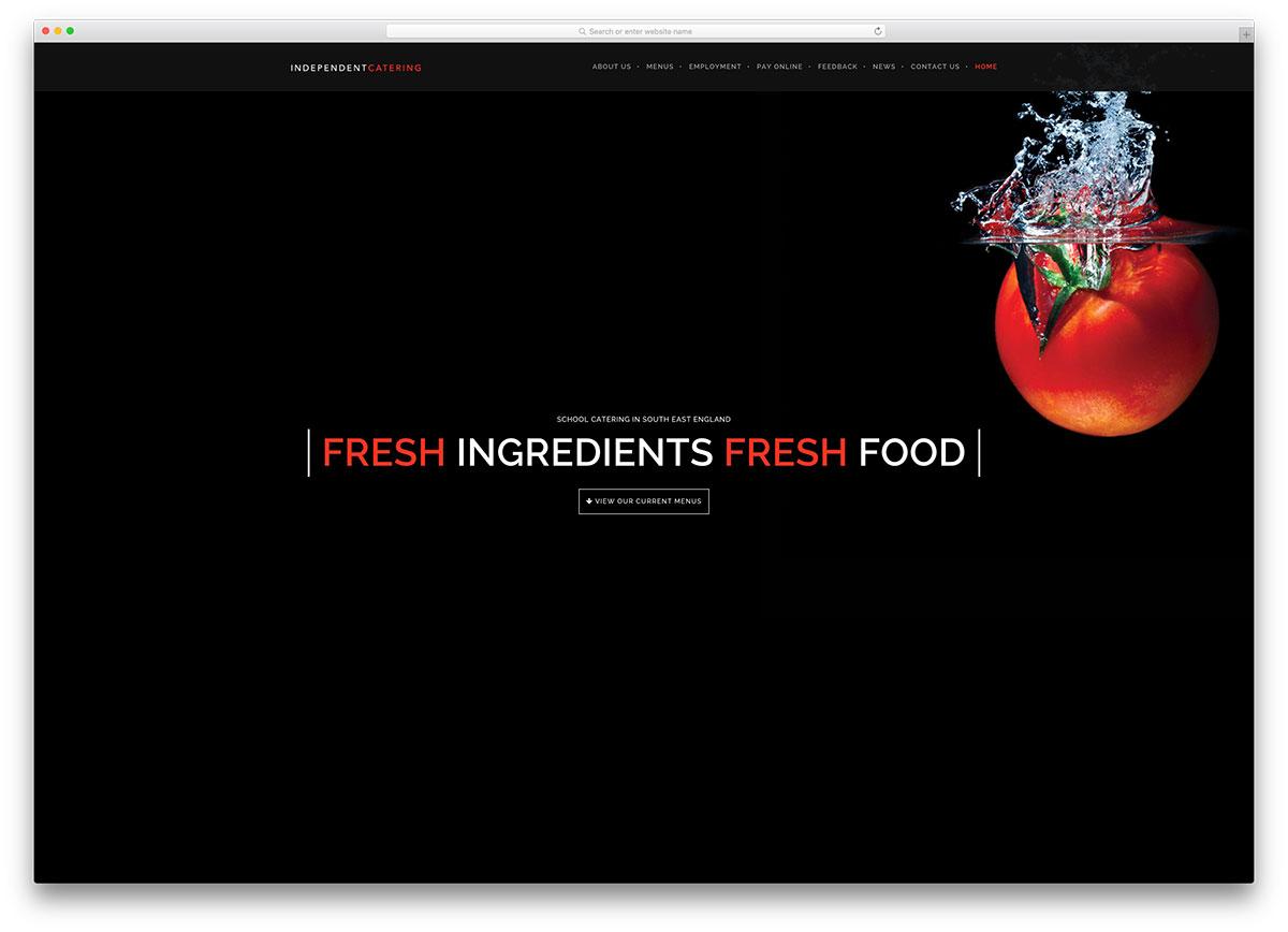 independentcatering-minimal-restaurant-website