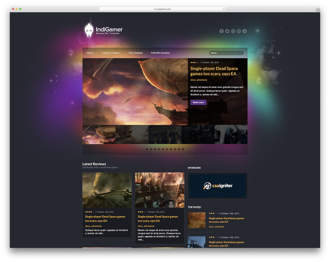 Best Gaming HTML Website Templates Colorlib - Gaming website template