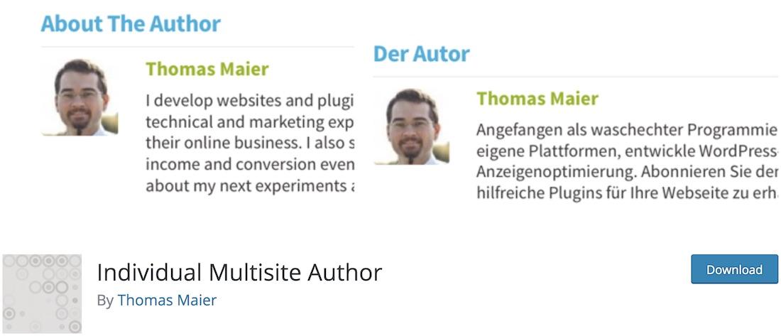 individual multisite author free wordpress plugin
