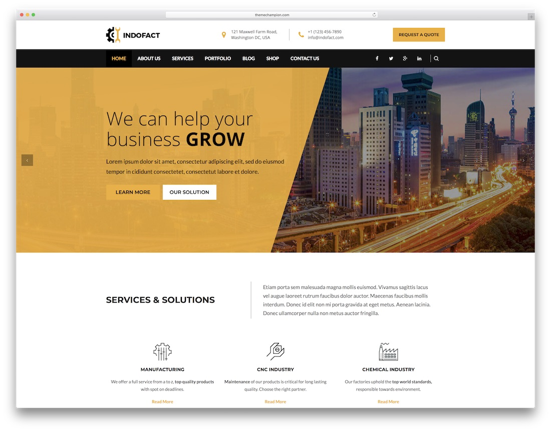 indofact mobile friendly website template