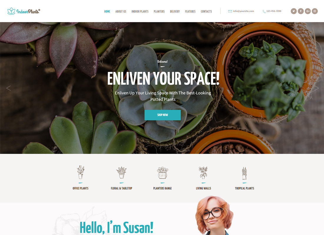 Indoor Plants | Houseplants store & Gardening WordPress Theme