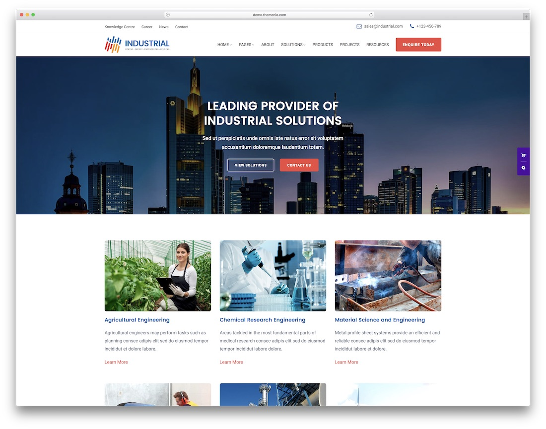 industrial html construction company template