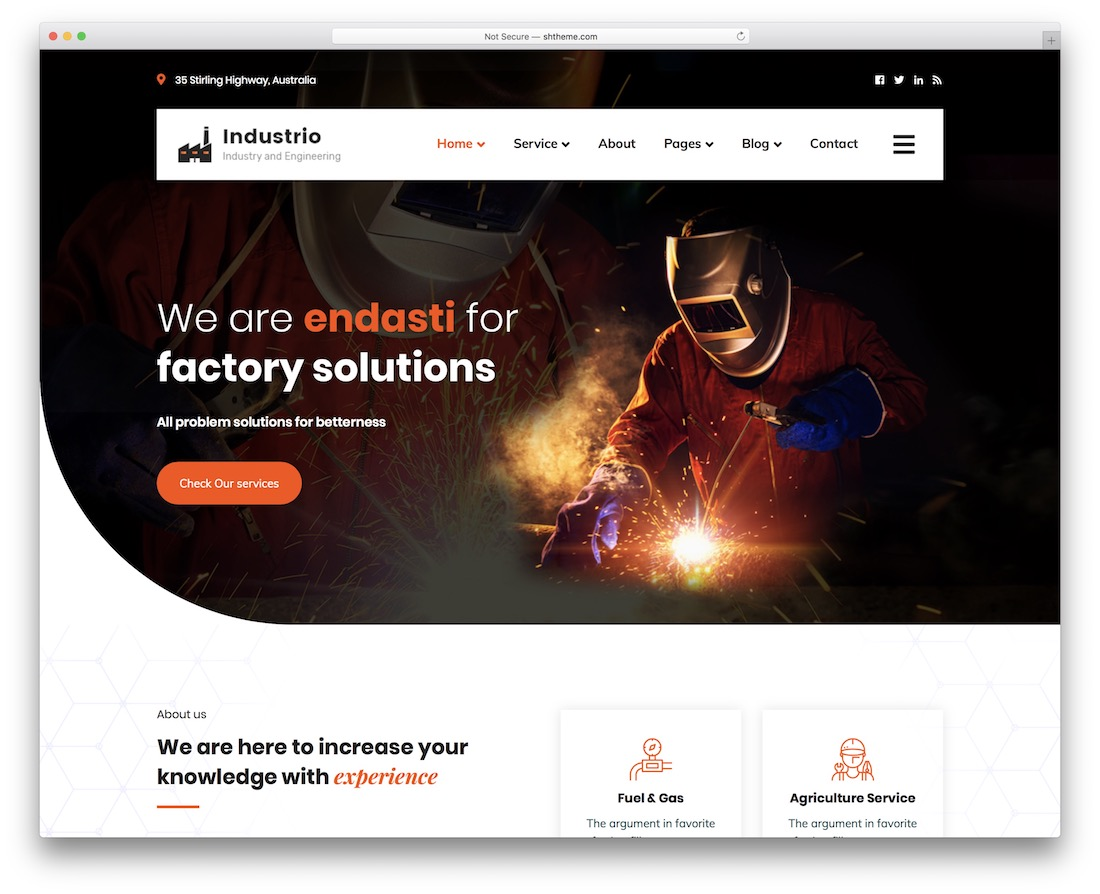 industrio welding website template