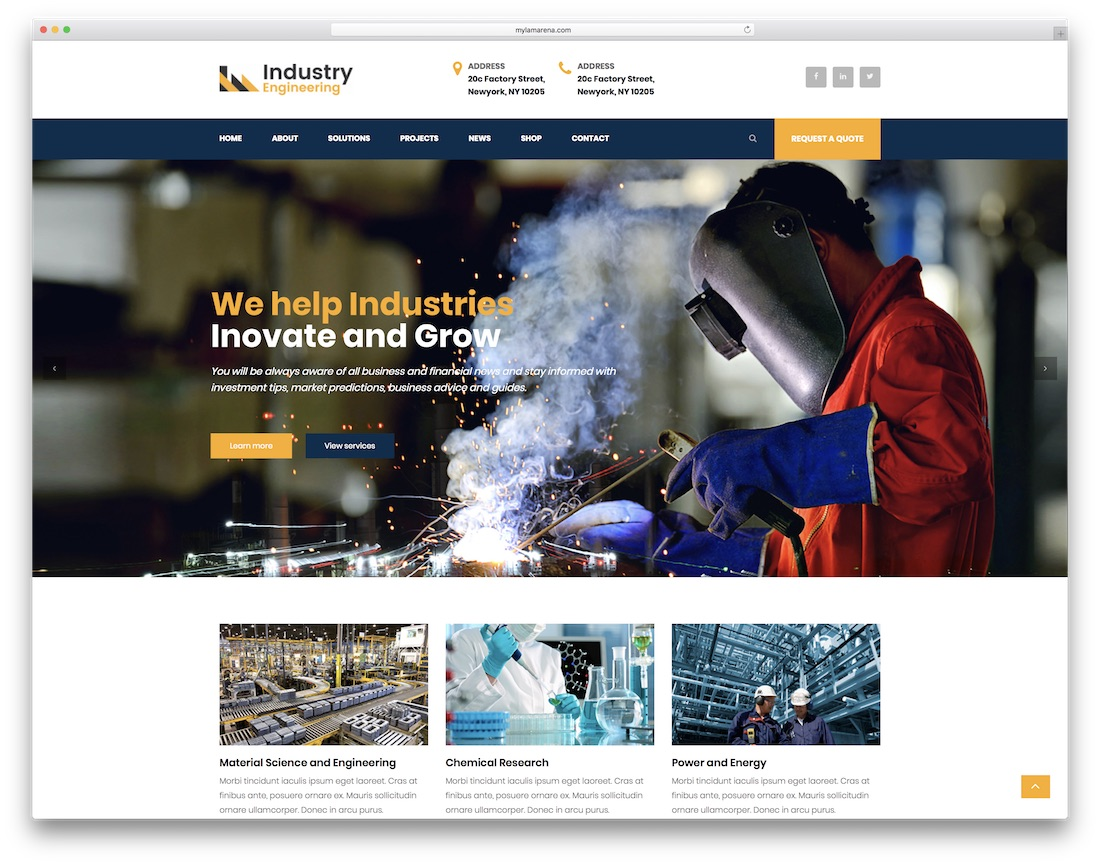 industry engineering html construction company template