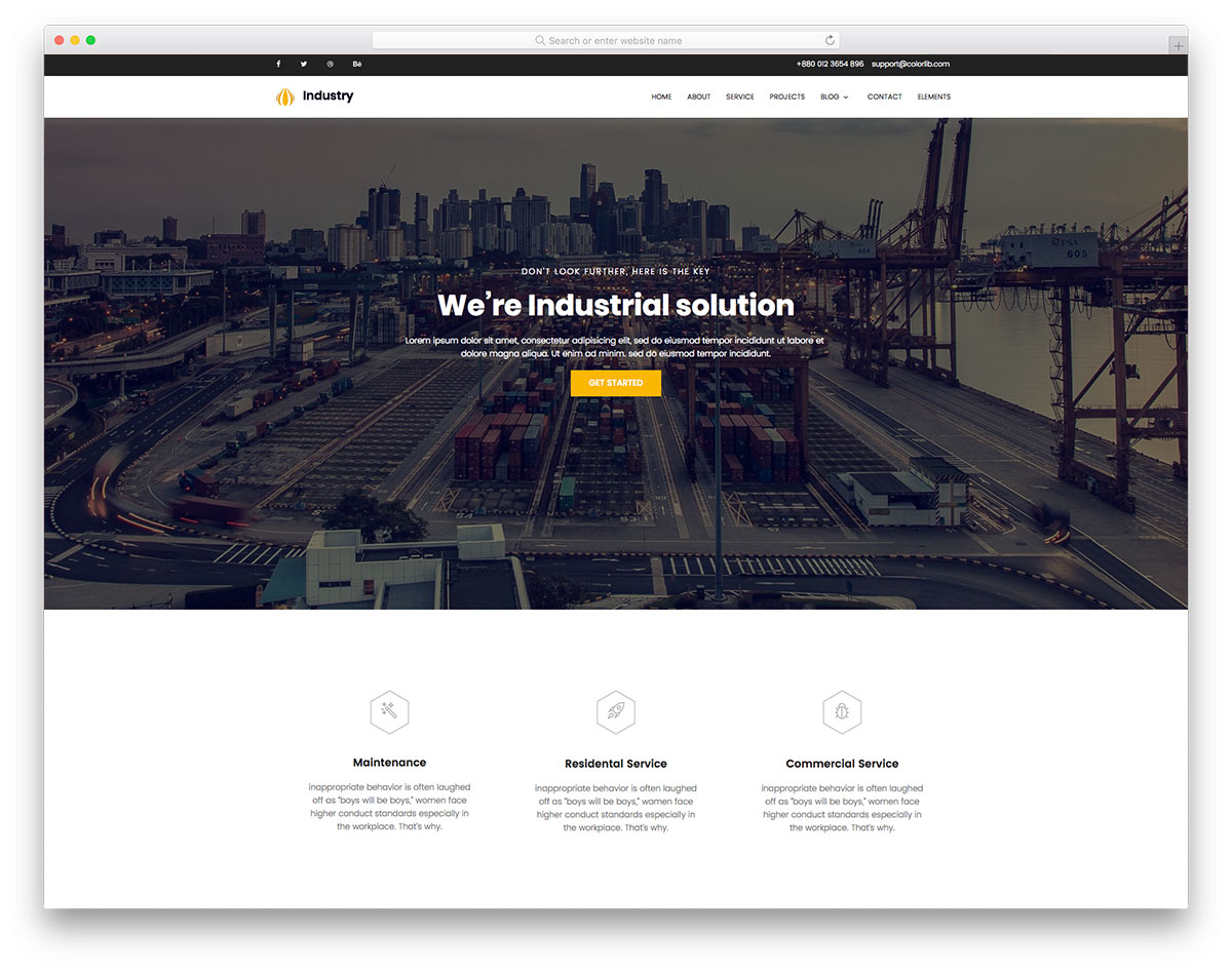 industry - Free Website Template