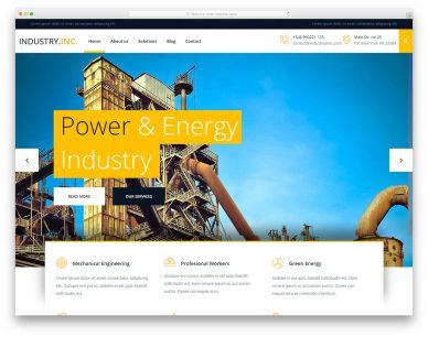 Industryinc Free Template