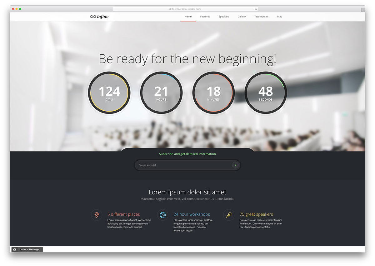 infine-minimal-conference-management-theme